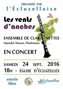 Concert à Ecluzelles - Samedi 24 septembre 2016